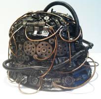 steampunk stormtrooper helmet by richardsymonsart