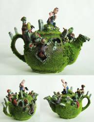 zombie attack teapot by richardsymonsart