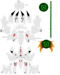 Okami papercraft instructions by Draco3013