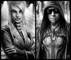Shadowrun Cyberpunk Characters by KARGAIN