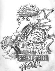 Sesame Street Fighter Big Bird by iambatgirl13