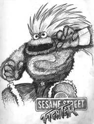 Sesame Street Fighter Cookie by iambatgirl13