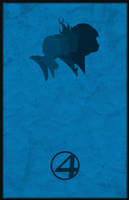 Fantastic 4 Minimalism Poster by Tiger-pup