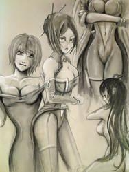 More manga girl concepts by HrvojeSilic