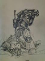 Black templar chaplain sketch by HrvojeSilic