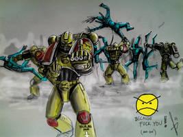 Angry marines by HrvojeSilic