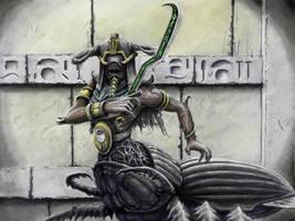 Black Pharaoh guard by HrvojeSilic