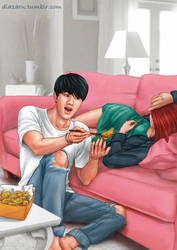 Jin, Bangtan BTS by dlazaru