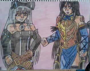 Shanoa vs Sora by carlos1976