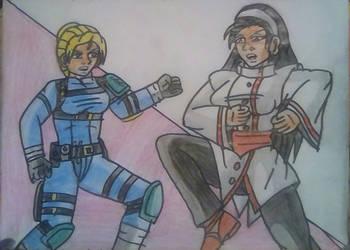 Cassie Cage vs Chizuru Kagura by carlos1976