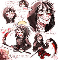 ANGELS OF DEATH CONSUMED MY SOUL by alpacasovereign
