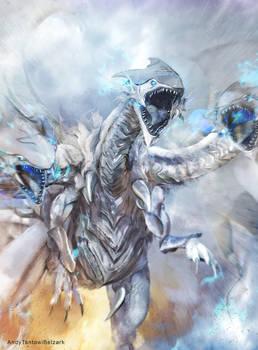 Blue Eyes Ultimate Dragon by andytantowibelzark