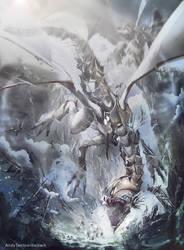 Blue Eyes White Dragon by andytantowibelzark