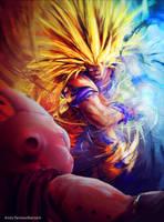 Commission: Goku VS Buu by andytantowibelzark