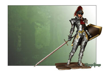 Female Knight: Suggest a Name? by MongoBongoArt