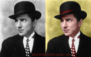 Lugosi colorization - 'Bowler' by AsparagusSoup