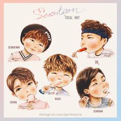 SEVENTEEN's Vocal Unit. by ririss