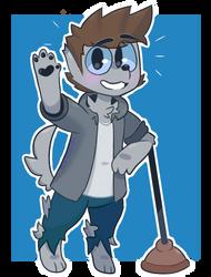 James (but hes a werewolf :O) by pplum-puddingg