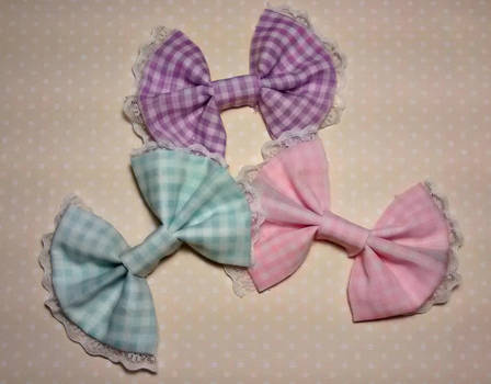 pastel hair bows by JL010203
