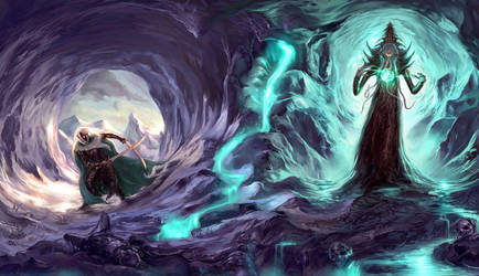Drizzt and mindflayer by CarstenO