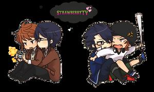 Misaki x Fushimi render 1 by StrawberryTv