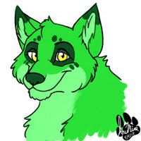 Green Doggy by InuMimi