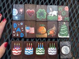 Perpetual Calendar Blocks Set 1 by InuMimi