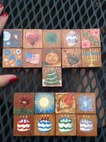 Perpetual Calendar Blocks Set 2 by InuMimi