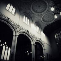 Gothic ceiling by lostknightkg