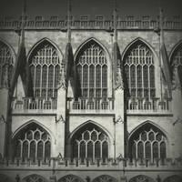Bath Cathedral windows by lostknightkg
