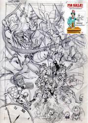 For sale cover sketch Watchmen B by PinoRinaldi