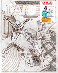 On Sale:  Kriminal Versus Daniel- Sketch A3 by PinoRinaldi