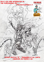 On Sale:  cover sketch A- A3-Marker on Paper by PinoRinaldi