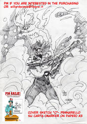 On Sale:  cover sketch C- A3-Marker on Paper by PinoRinaldi
