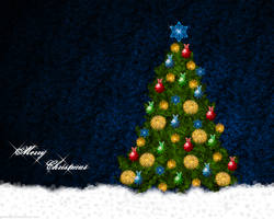 Christmas tree wallpaper by gosiekd