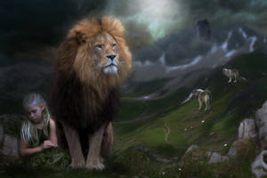 The Courage of Aslan by AusWolf666