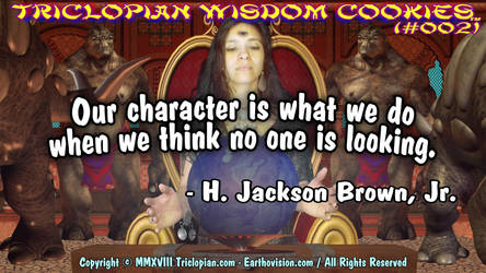 Triclopian Wisdom Cookies (#2 - Jackson Brown Jr.) by Triclopian