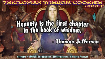 Triclopian Wisdom Cookies (#3 - Thomas Jefferson) by Triclopian