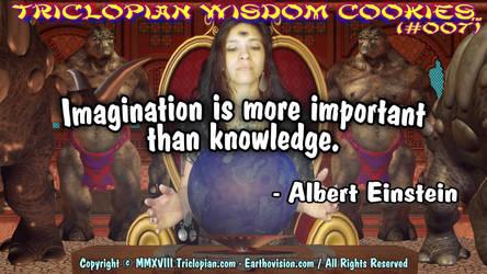Triclopian Wisdom Cookies (#7 - Albert Einstein) by Triclopian