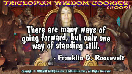 Triclopian Wisdom Cookies (#9- Franklin Roosevelt) by Triclopian