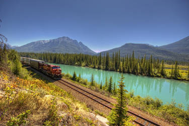 CP Rail Main Line in the Mtns by Gemini8026