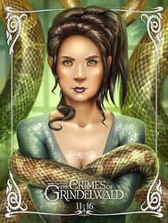 Nagini. Crimes of Grindelwald. Alternative poster. by maryquiZe