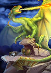 Common Welsh Green Dragon by maryquiZe