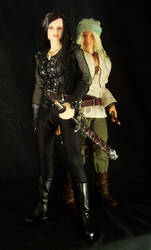 Magiere and Leesil figures by ForeverVirginia