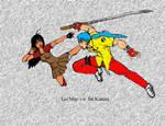 Lei May vs Jin Katana by JigenSuzuki