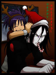 Naruto's Anko and Orochimaru by hokage1222
