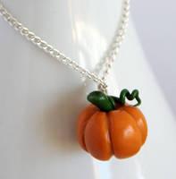 Pumpkin Necklace by NeverlandJewelry