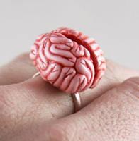 Mmmm Brains Ring by NeverlandJewelry