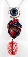 Eye Heart Brains Necklace by NeverlandJewelry