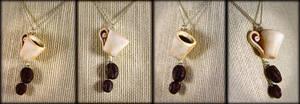 Mmmm... Coffee Lovers Necklace by NeverlandJewelry